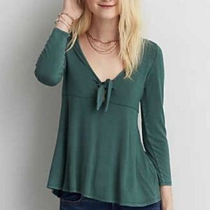 American Eagle Soft & Sexy Tie Front Top